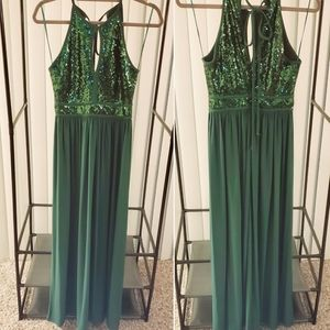 NWOT maxi sleeveless dress sequins Hunter geen